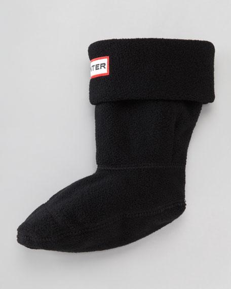 First Fleece Welly Sock, Black