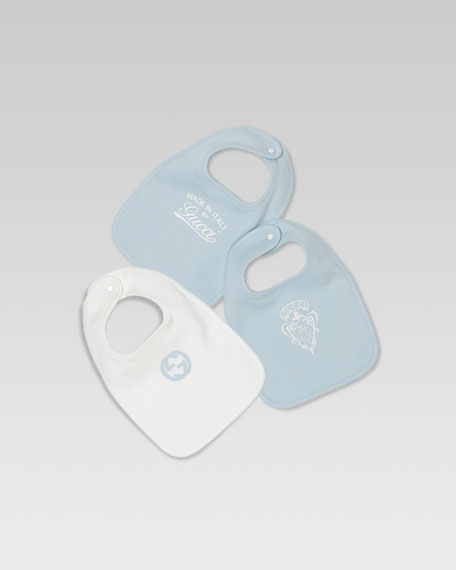 Three-Bib Set, Blue