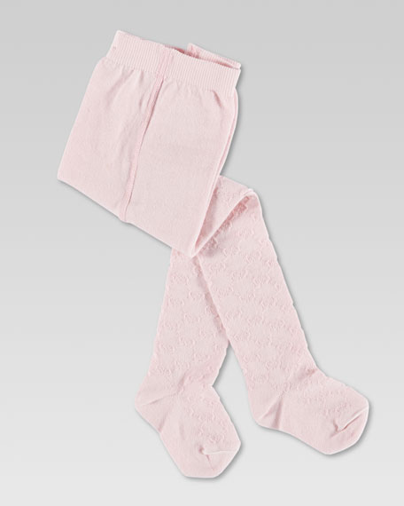 Baby Reggie GG Jacquard Tights, Pink