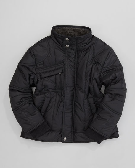 Emmons Quilted Bomber Coat