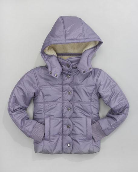 Ukiah II Quilted Coat, Purple Ash