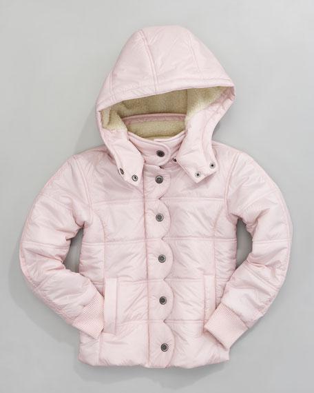 Ukiah II Quilted Coat, Baby Pink