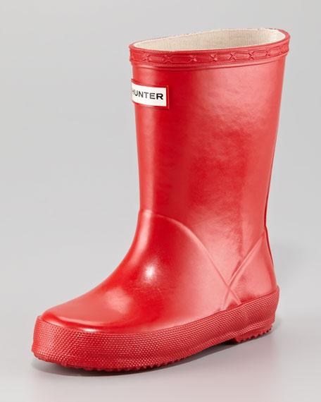 First Gloss Welly Boot, Pillar Box Red