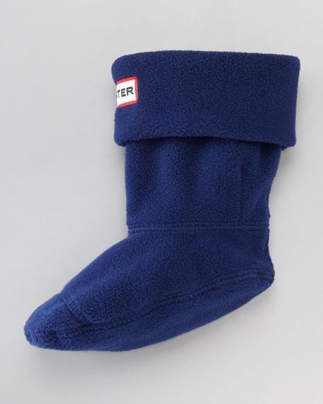 First Fleece Welly Sock, Navy