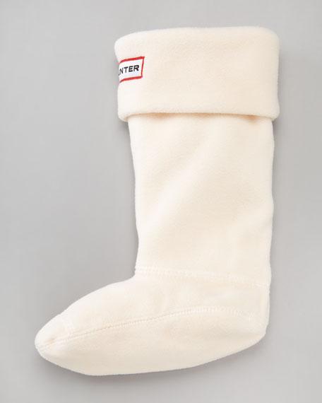 First Fleece Welly Sock, Light Pink