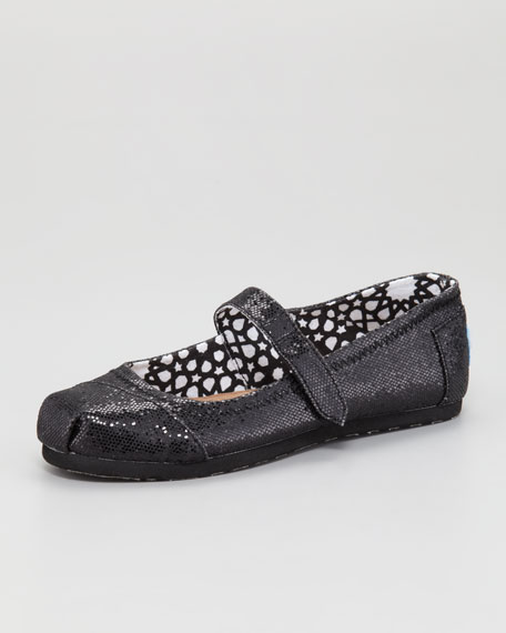 Youth Glitter Mary Jane, Black