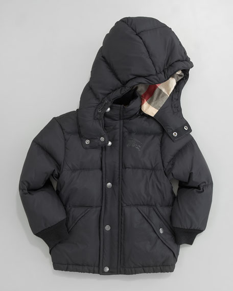 Quilted Check-Lined Coat