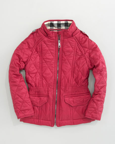 Mini Quilted Jacket, Fritillary Pink