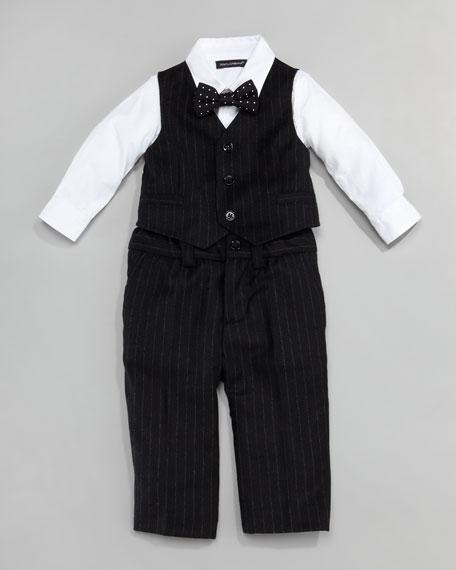Pinstripe Suit Vest