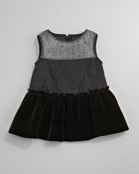 Herringbone Combo Dress, Sizes 3-24 Months