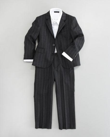 Pinstripe Suit Jacket, Sizes 4-10