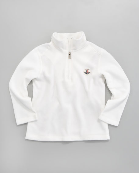 Fleece Zip-Neck Pullover, Sizes 2-3