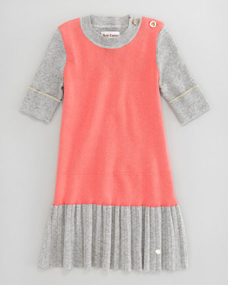 Pleat-Skirt Dress