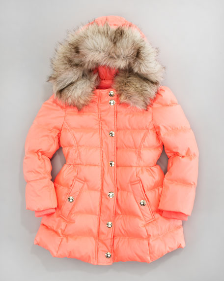 Hooded Faux-Fur Trim Puffer
