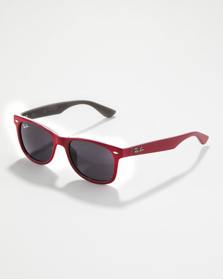 Two-Tone Wayfarer Sunglasses, Pink