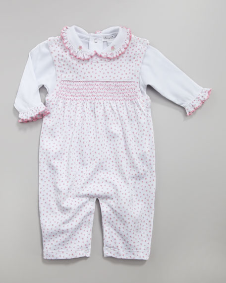 Twirly Toes Floral Overall Set