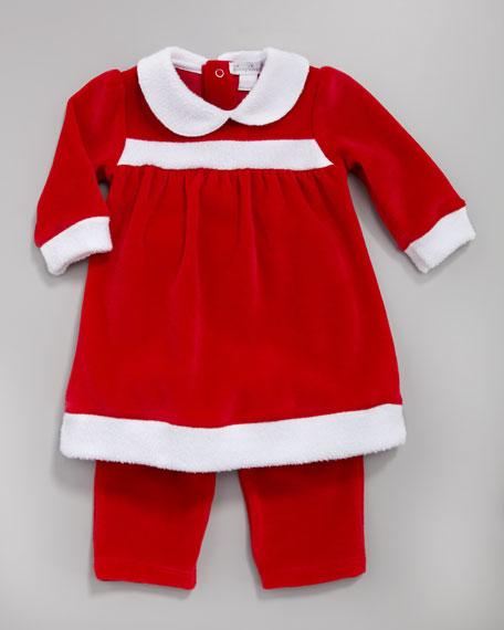 Merry Makers Velour Dress and Leggings Set