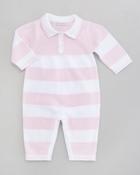 Blockbuster Striped Playsuit, Pink