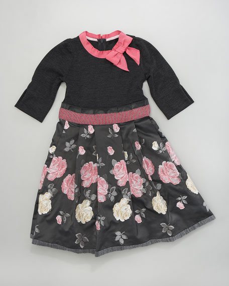 Floral Embroidered Dress, Sizes 2-6