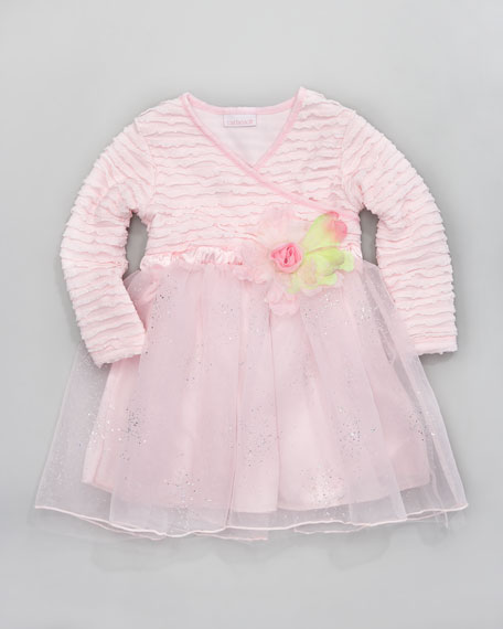 Tiny Trousseau Little Bow Peep Dress, Sizes 2T-4T