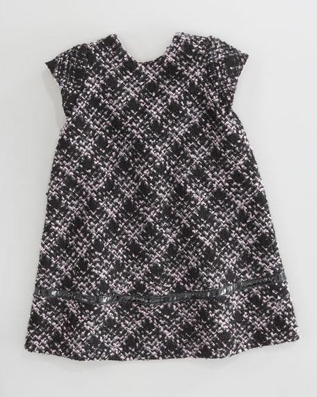 Boucle Bow-Back Dress, Sizes 4-6X
