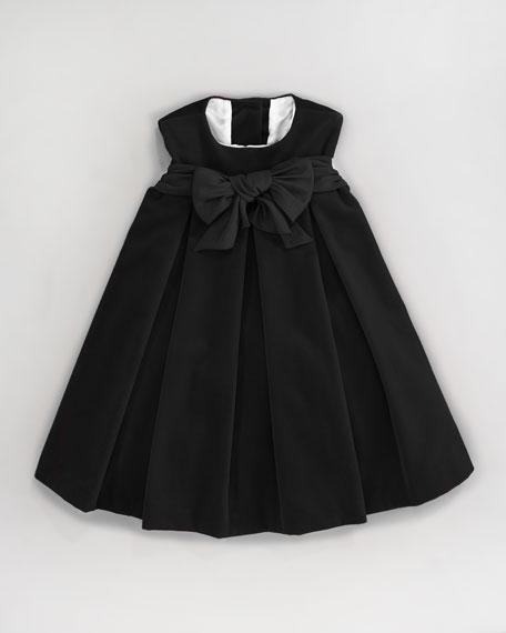 Velvet Pleat-Front Dress, Sizes 2-3T
