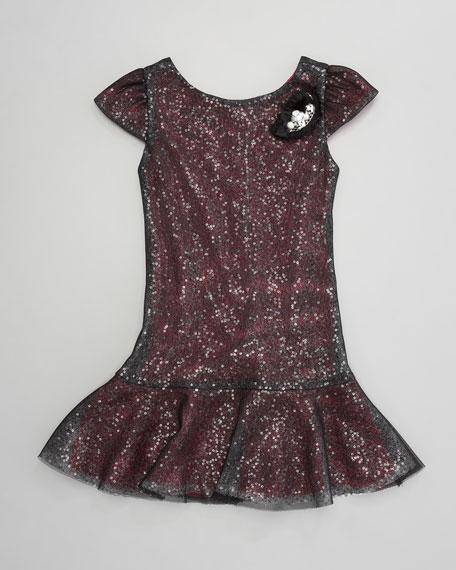 Sequin Drop-Waist Dress, Sizes 2-6