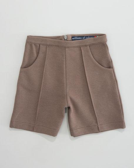 High-Waist Double-Knit Shorts