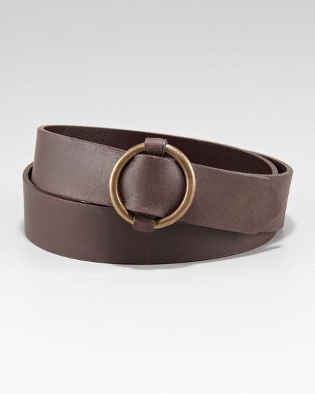 Circular Buckle Belt, Brown