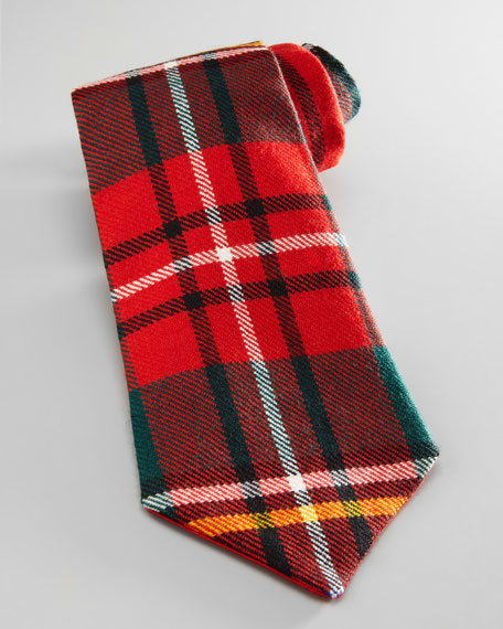 Boys' Plaid Flannel Tie, Red