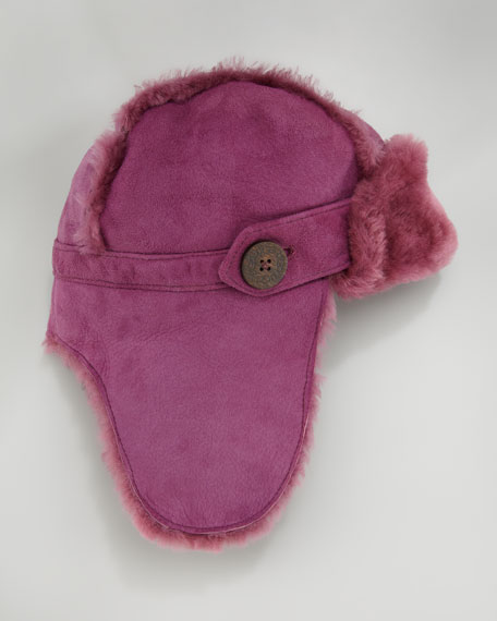 Bailey Shearling Aviator Hat, Sugar Plum