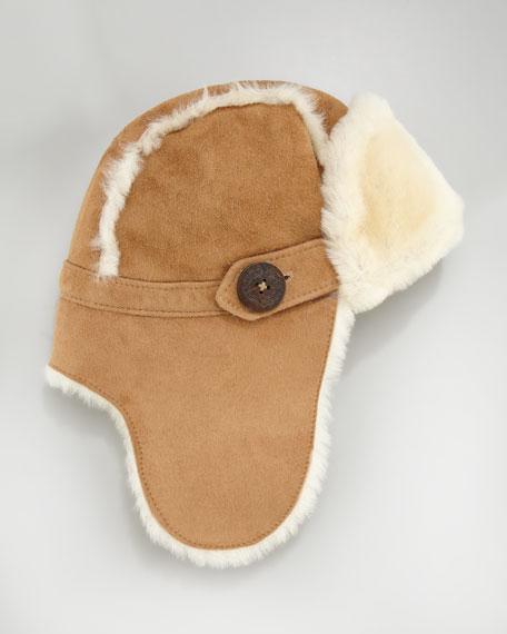Bailey Shearling Aviator Hat, Chestnut
