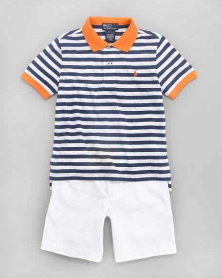 Striped Colorblock Polo, Sizes 2-7