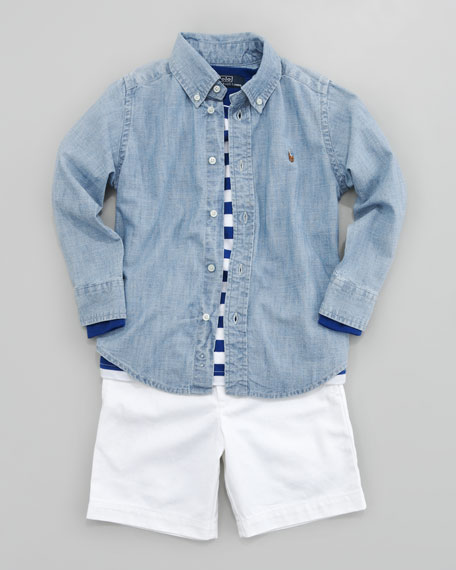 Blake Chambray Shirt, Sizes 2-7
