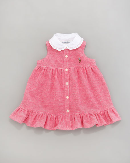Oxford Mesh Dress, 12-24 Months