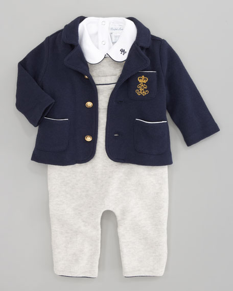 Jacket, Overalls, and Playsuit Set