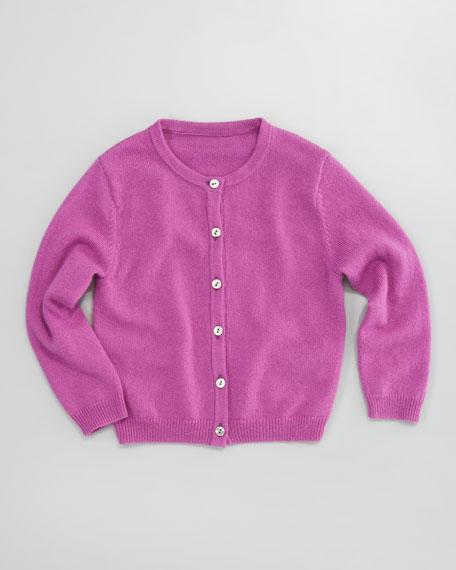 Classic Cashmere Cardigan, Cyclamin Purple