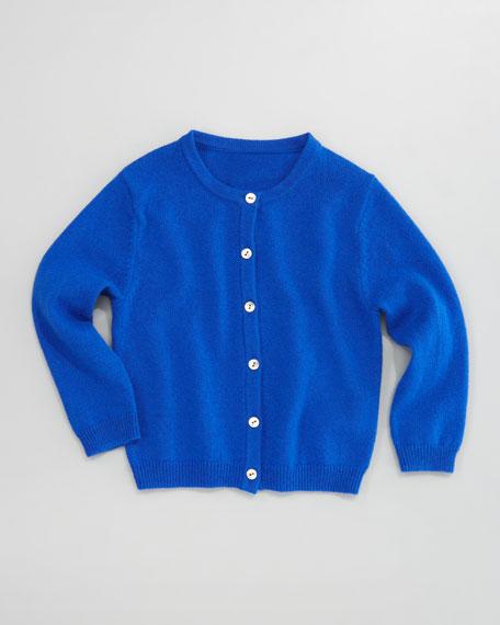 Classic Cashmere Cardigan, Klein Blue