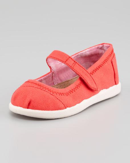 Canvas Mary Jane Slip-On, Red, Tiny