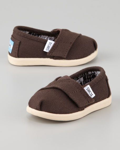 Chocolate Classic Canvas Shoe, Tiny