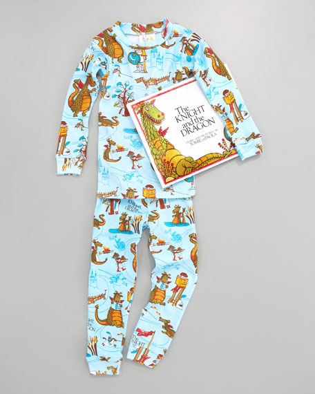 Knight and the Dragon Pajamas and Book Set, Sizes 4-6