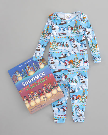 Snowmen At Christmas Pajamas and Book Set
