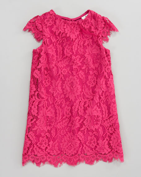 Daisy Lace Cap-Sleeve Dress, Sizes 2-6