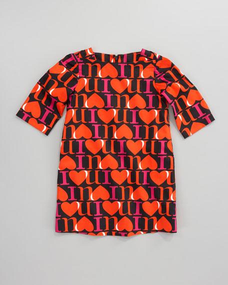 I Love You Shift Dress, Sizes 2-6