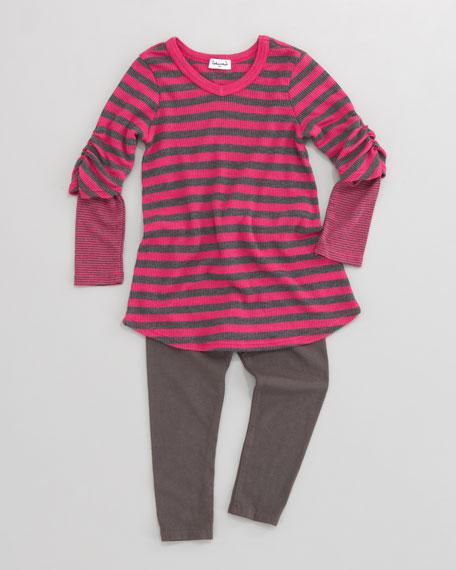 Striped Thermal Tunic & Leggings Set, Sizes 2T-4T