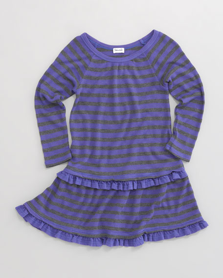 Striped Thermal Knit Dress, Sizes 2T-4T