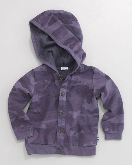 Camo Hooded Zip Jacket, Sizes 4-7X