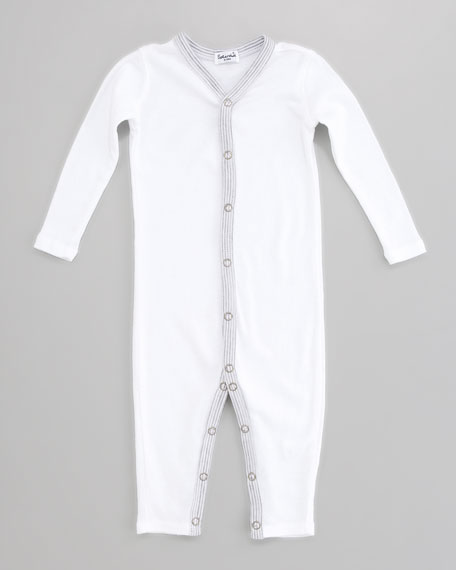 Snug-Fit Playsuit, White