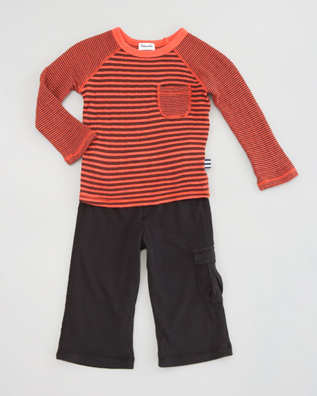 Double-Faced Striped Shirt & Pants, Sizes 3-24 Months