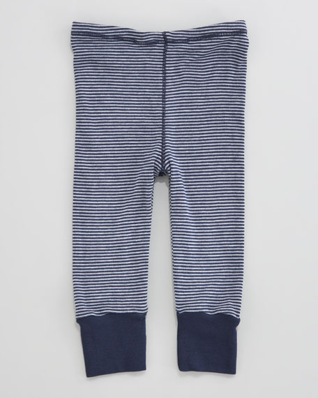 Mini-Stripe Snug Pants